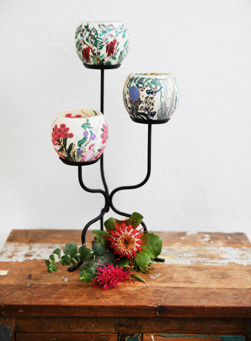 Australian Wildflowers Handmade Candle Holder - Banksia