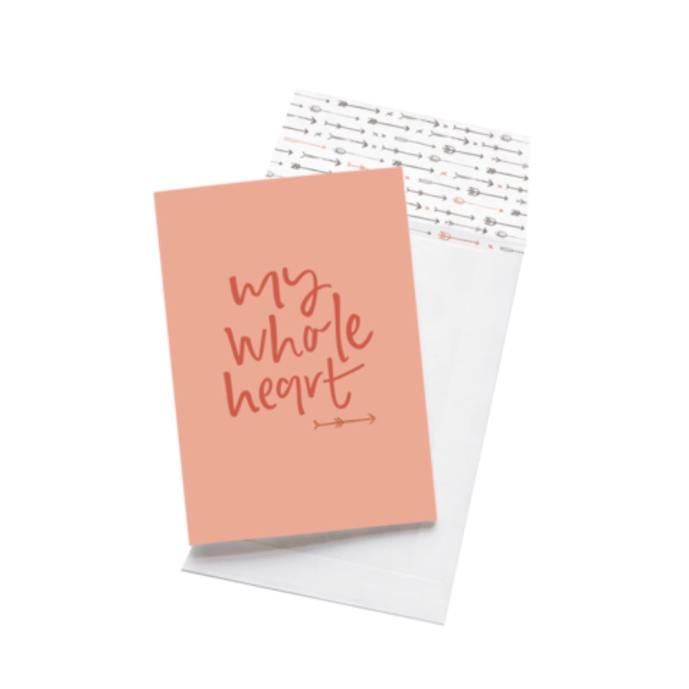 Greeting Card - My Whole Heart
