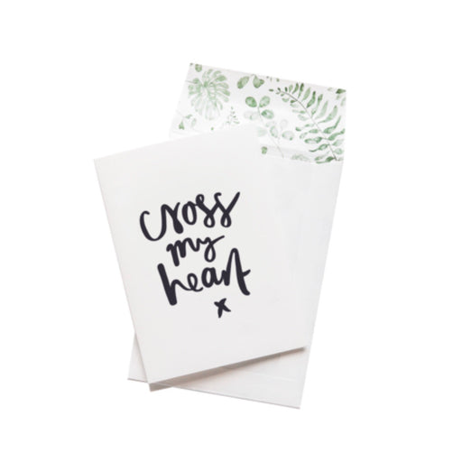 Greeting Card - Cross My Heart