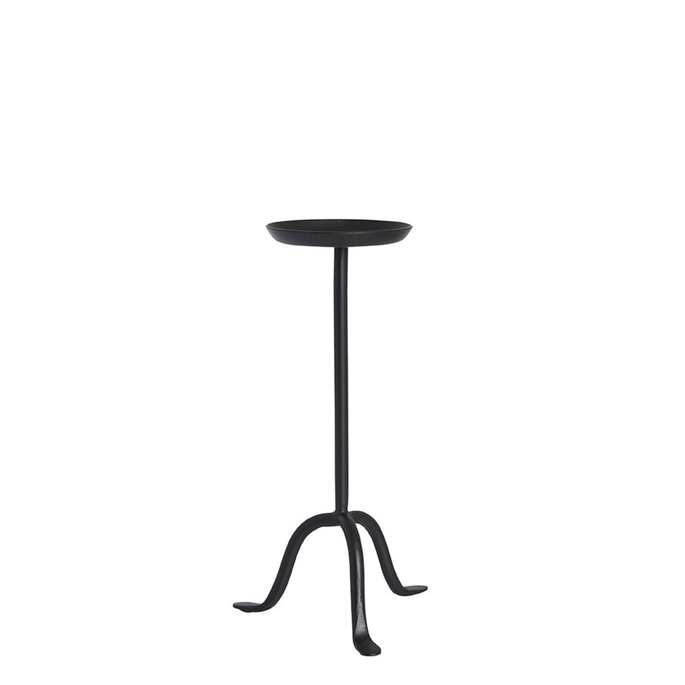 Black Iron Candle Holder Stand - Single Tall