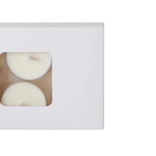 Soy Tealights - 6 Pack, Unscented Clear Cups