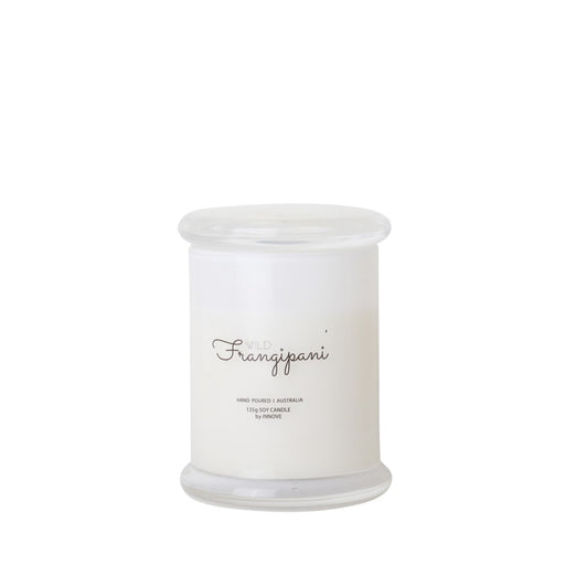 White Glass Soy Candle - Wild Frangipani