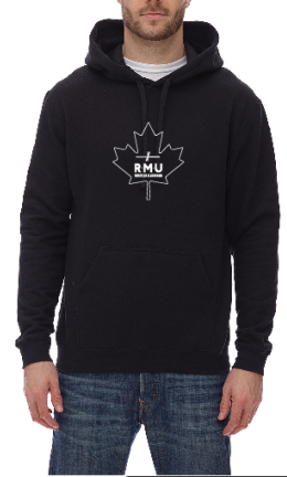 Hoodie Black Maple Leaf Logo