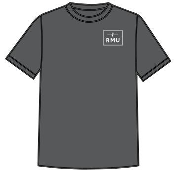RMU Box Logo Tee Heather Grey