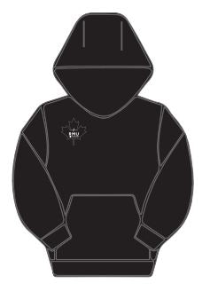RMU Maple Leaf Hoodie Grey