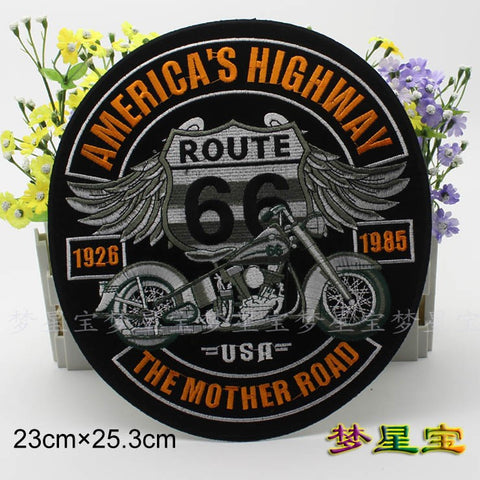 R66 1221 R66 10'' inches Embroidery Biker Patches for Jacket Back