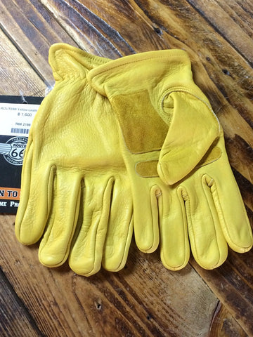 Route 66 Yellow Gloves  Size XL