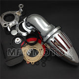 SKU R66 0803 Route 66 Harley Dyna Electra Glide FLHX Road King CHROME Air intake for 2008-2012
