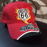 Route 66 Red Baseball Cap