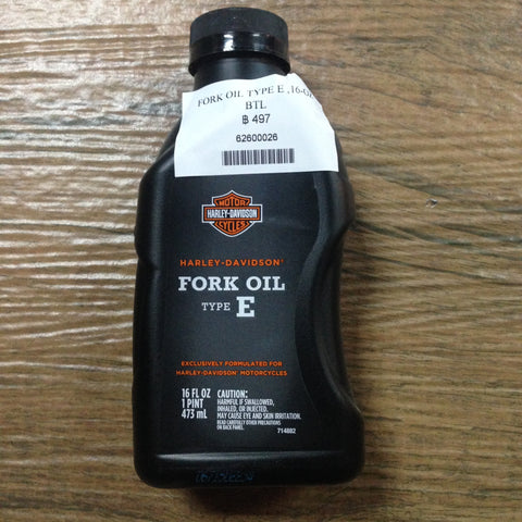 SKU 62600026  FORK OIL TYPE E ,16-OZ BTL