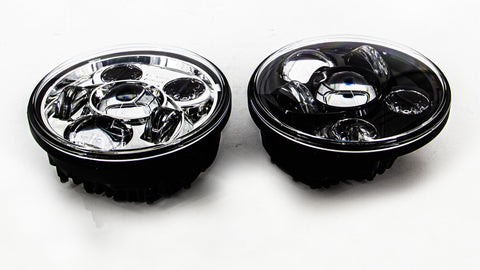 R66 2125 Round 5-3/4 inch  LED Motorcycle Lights Chrome or Black