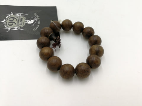 R66 0648 Route 66 Wooden Beaded Bracelet