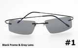 R66 1316 The Matrix Style Gray Polarized Driving Sunglasses