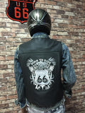 SKU R66 0498 Route 66 Black Leather Biker Vest Size M
