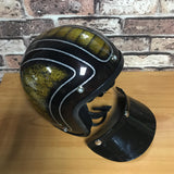 R66 Open face Half Helmet Gold/Black