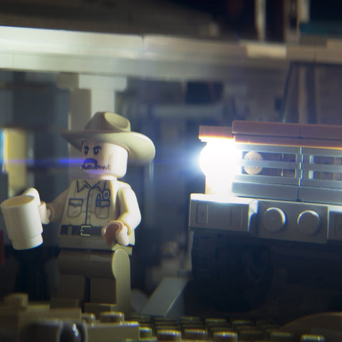Mornings are for coffee and contemplation. Lego photography by Tom Milton