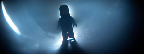 Diffraction grating. Lego photography by Tom Milton