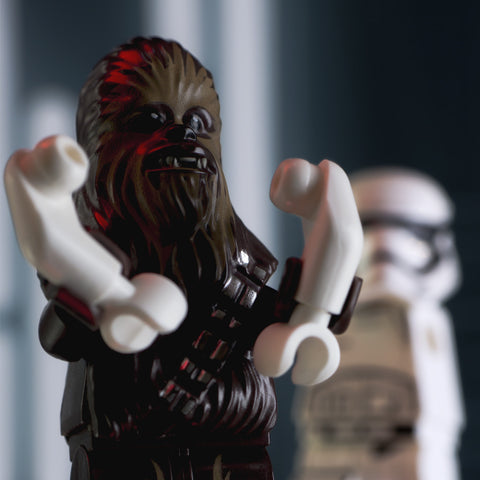 And they still won't let the wookiee win? (version 2). Lego Photography by Tom Milton