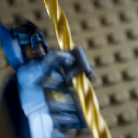 Access to Batcave via Batpoles, part 1. Lego photography by Tom Milton