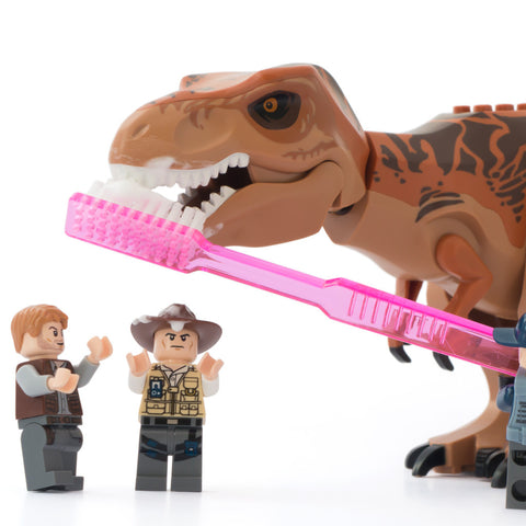 Dental hygiene is very important at Jurassic World. Lego Photography by Tom Milton