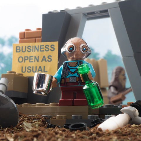 Business open as usual. Lego photography by Tom Milton