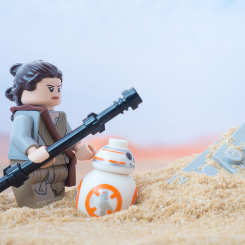 Don't worry BB-8, it will definitely look bigger on screen. Lego Photograph