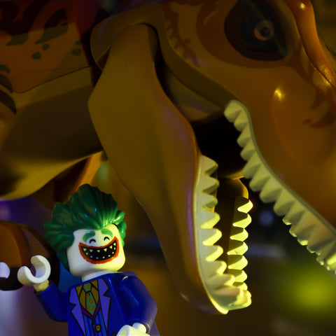 Even bad guys enjoy a good fist bump. Lego photography by Tom Milton