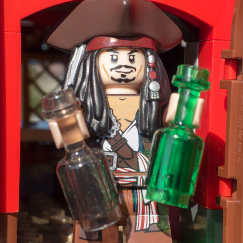 Drink anyone? We've got rum or rum. Lego Photography