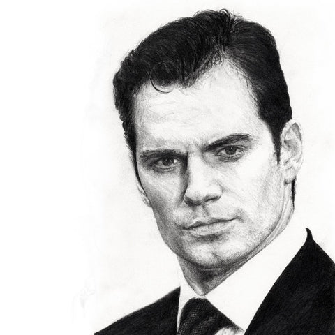 Henry Cavill hand drawn portrait