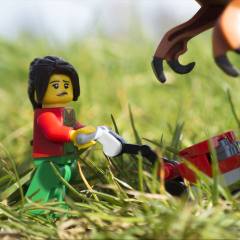 Being a gardener at Jurassic Park... Lego Photography by Tom Milton