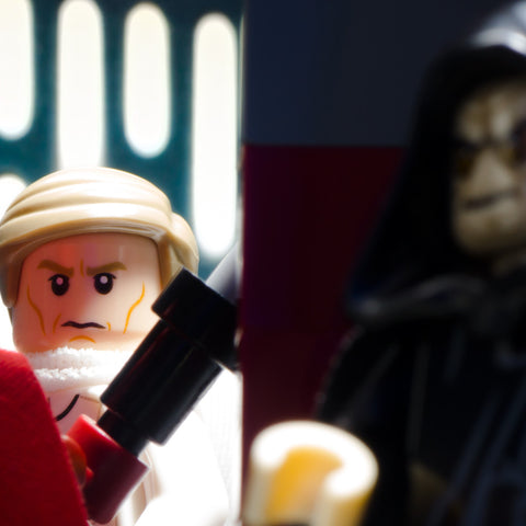 Sorry Director, but the Emperor is out at the moment. Lego Photography by Tom Milton