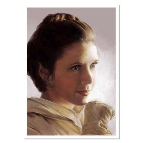 Princess Leia. Giclée fine art print from a digital painting