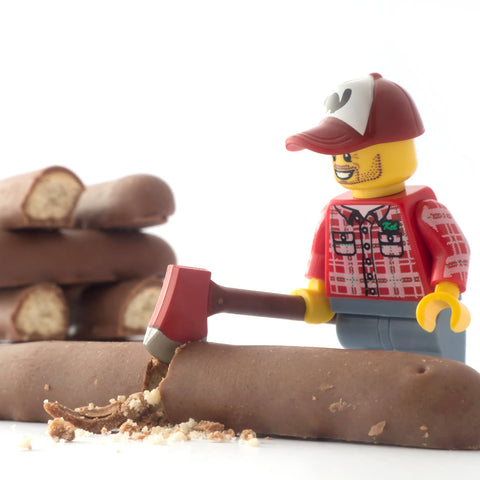 A woodsman at work. Lego Photography