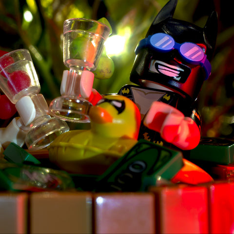 Hot tub party, genius billionaire playboy philanthropists only. Lego photography by Tom Milton