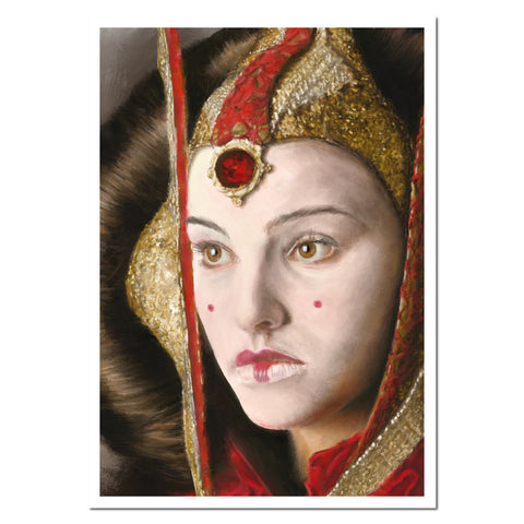 Queen Amidala. Giclée fine art print from a digital painting