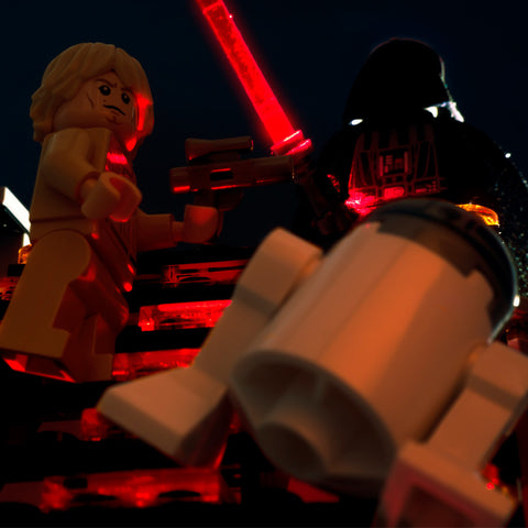 I said wait R2, you know you can't do stairs. Lego Photography by Tom Milton