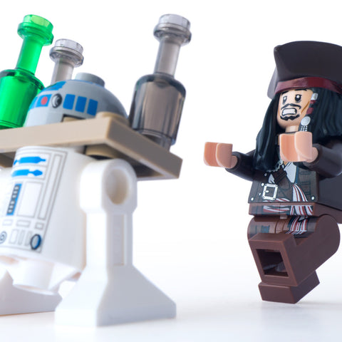 Call yourself a waiter, get back here with my rum. Lego Photography