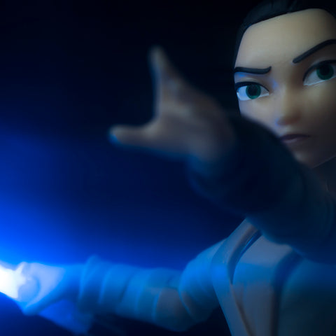 The only fight, against the dark side. Toy photography by Tom Milton