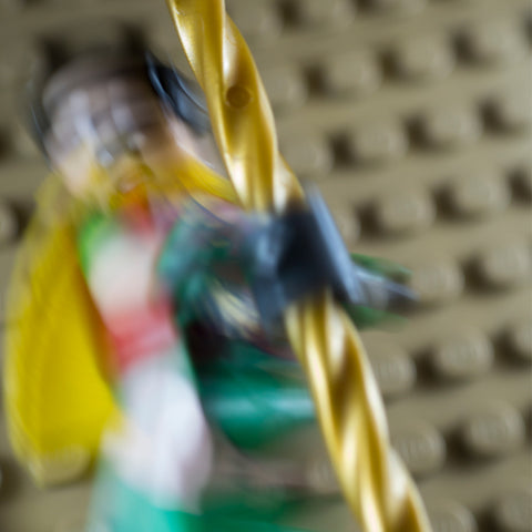 Access to Batcave via Batpoles, part 2. Lego photography by Tom Milton