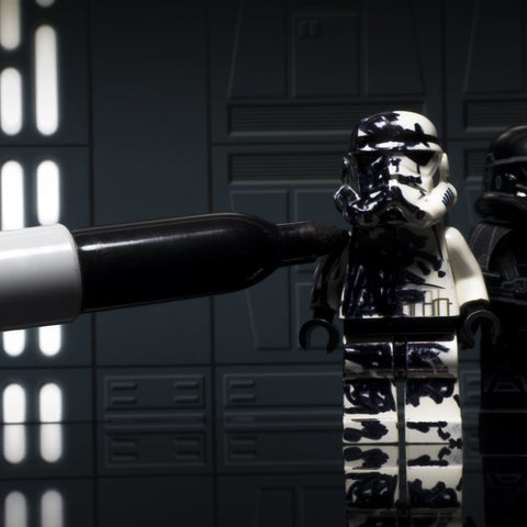 Stand still, I need more deathtroopers. Lego photography by Tom Milton