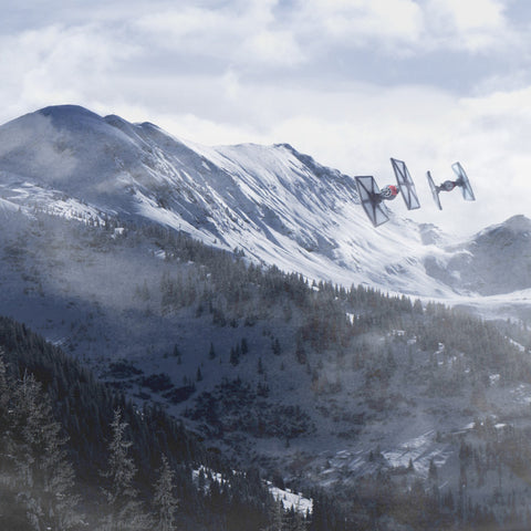 Reconnaissance over Starkiller Base. Miniature Photography