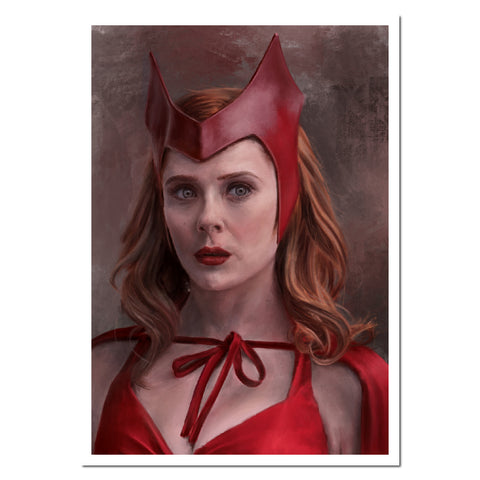 Scarlet Witch - Print. Giclée fine art print from a digital painting