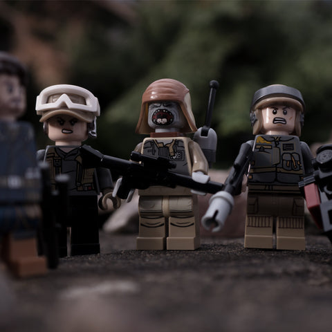Now let me see your war face. Lego photography by Tom Milton