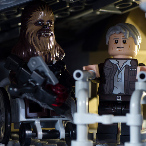 Chewie, we should be in a home. Lego photography by Tom Milton