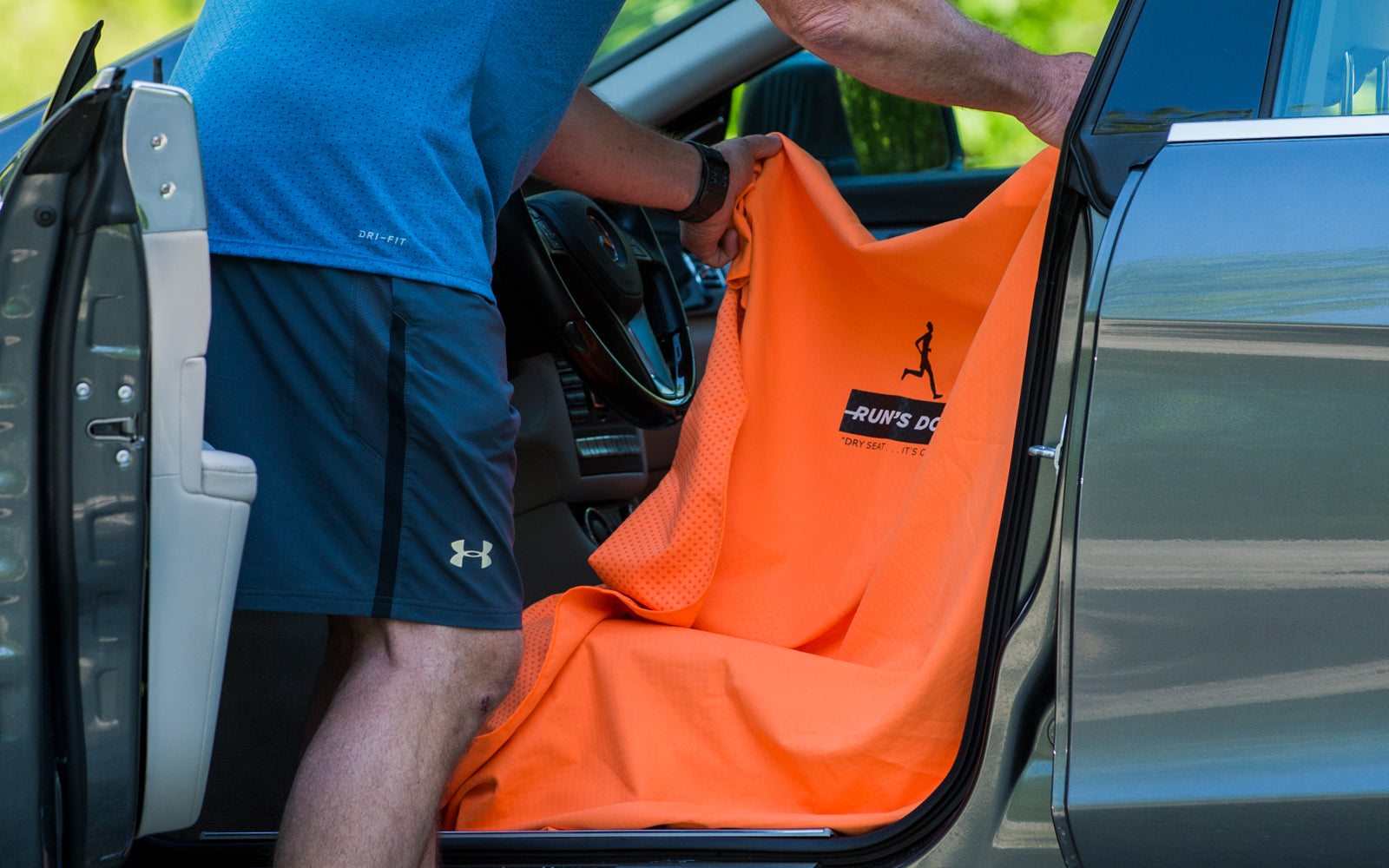 Run's Done Protective Car Seat Cover Moisture-wicking, Machine Washable,...
