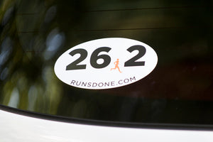 Run's Done Running Decals (26.2, 13.1, 10k & 5k)