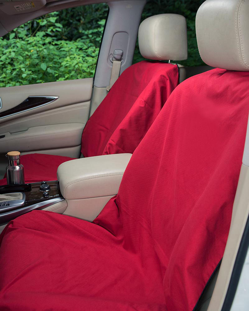 Towel Car Seat Cover Set 2 Seat Covers Water Bottle