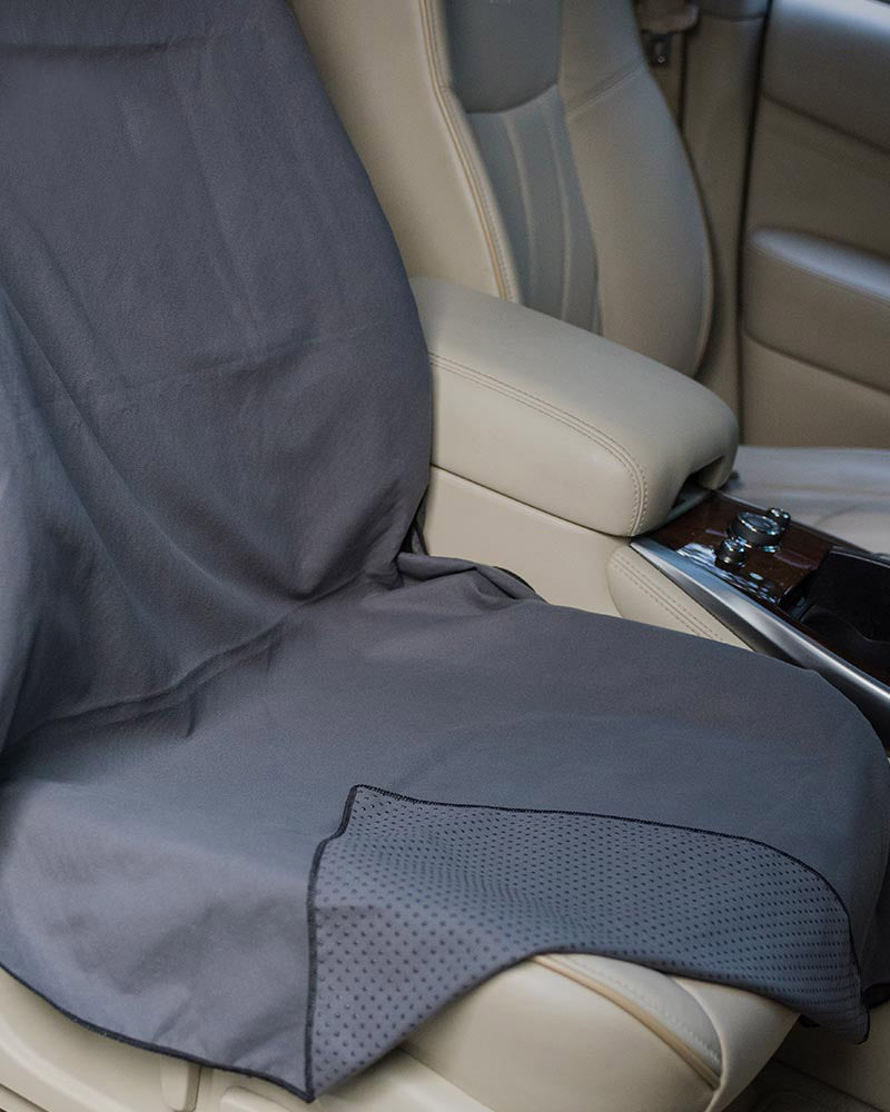 Towel Car Seat Cover Set 2 Covers Water Bottle