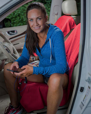 Antimicrobial Car Seat Cover for Runners & Active Lifestyles
