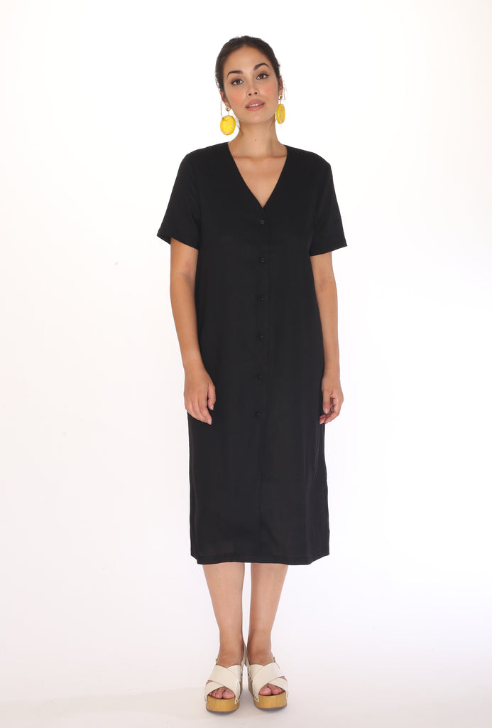 Robe Linen Black Pepaloves